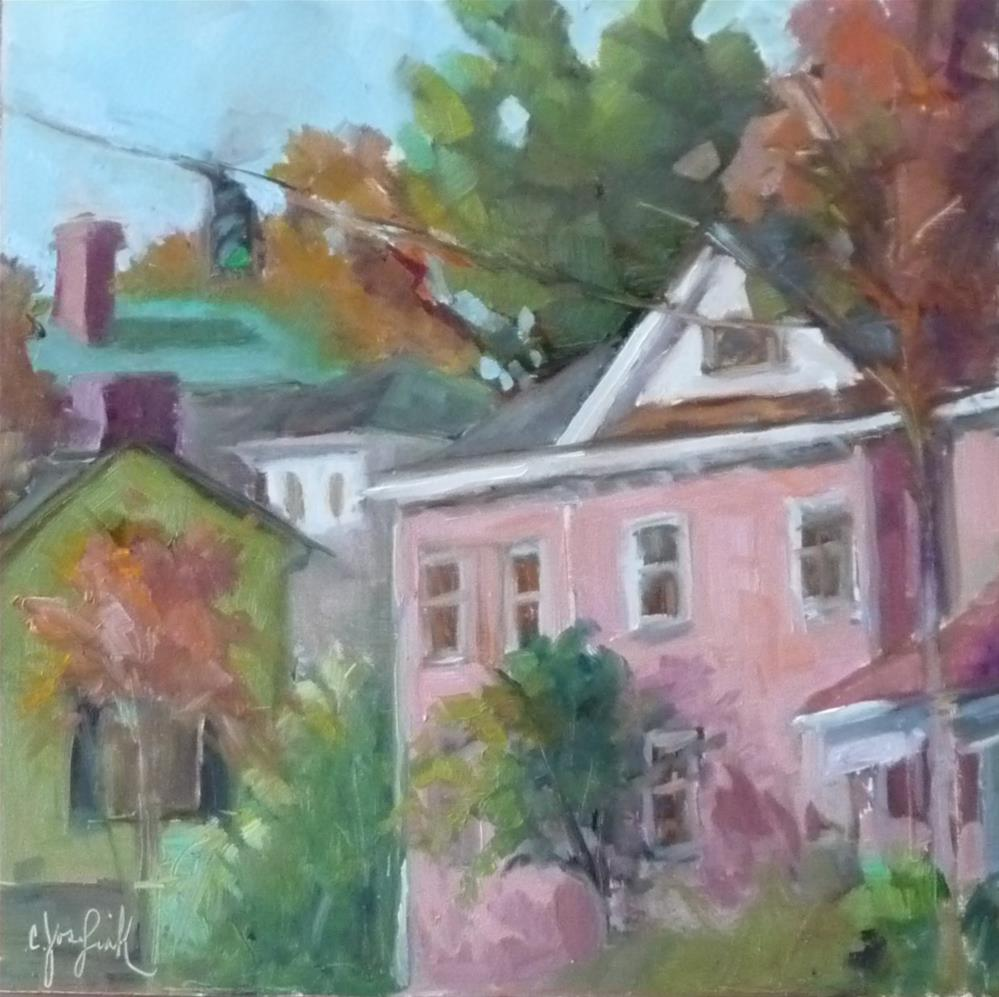"""Amelia and Caroline Street"" original fine art by Carol Josefiak"