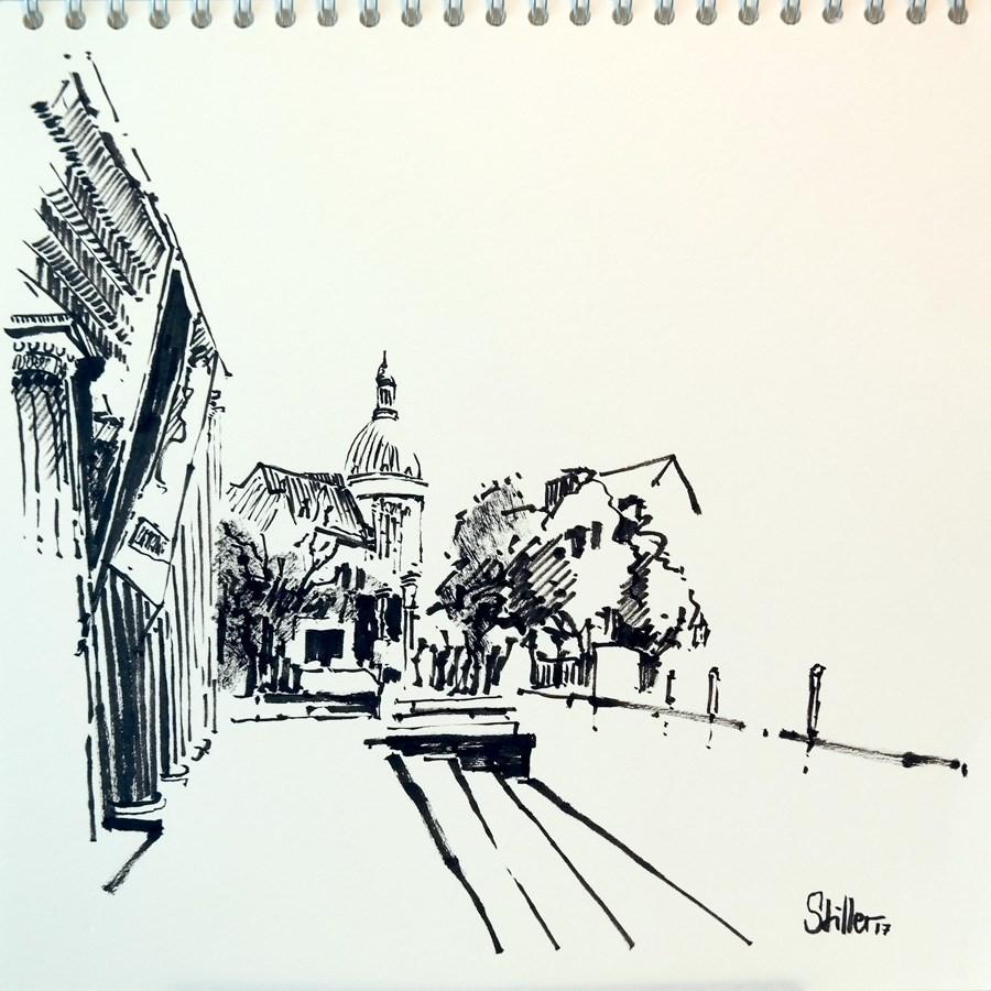"""""""2248 Sunday Sketches #27"""" original fine art by Dietmar Stiller"""