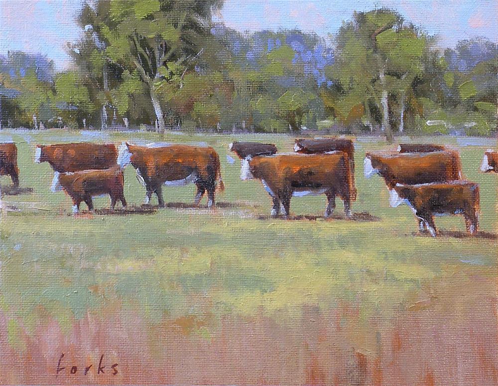 """'Til the Cows Come Home"" original fine art by David Forks"
