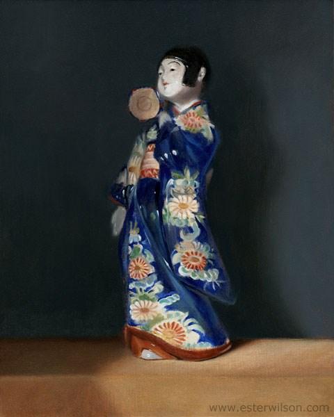 """Kotsuzumi"" original fine art by Ester Wilson"