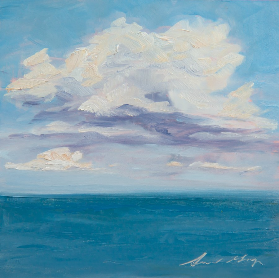 """#153 - Cumulus Clouds, ME"" original fine art by Sara Gray"