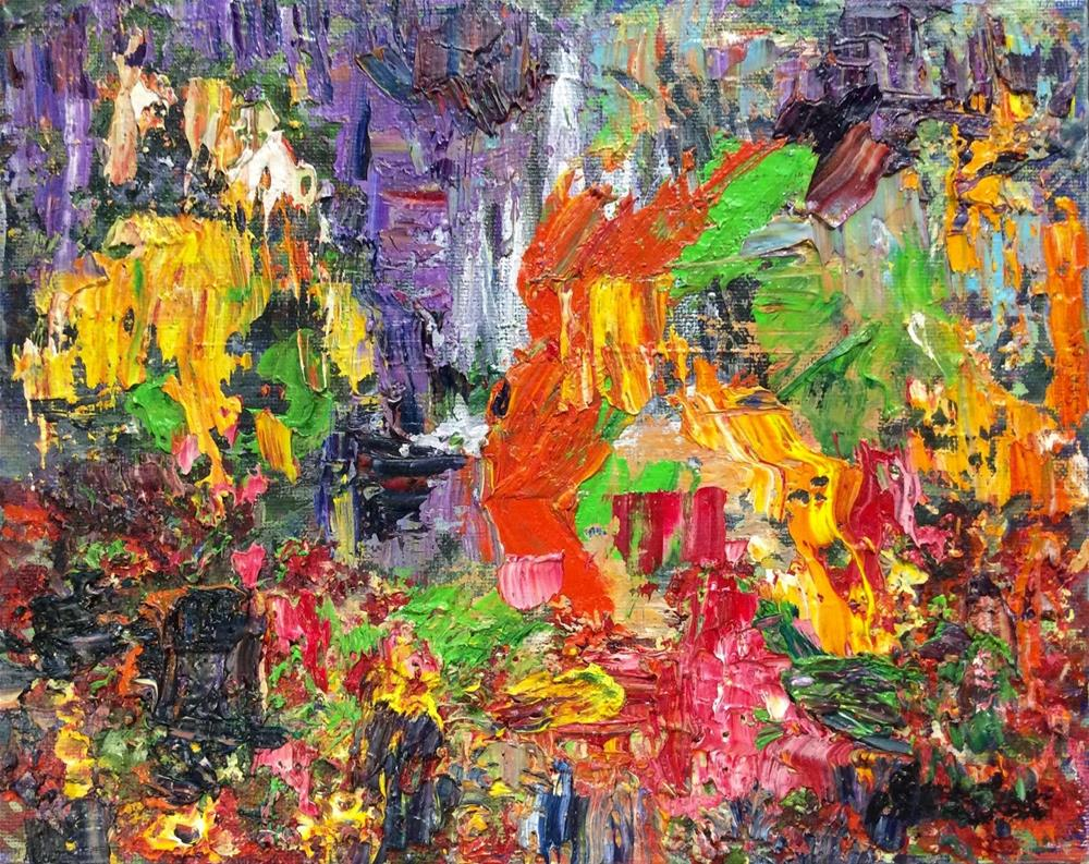 """""""Abstract  garden"""" original fine art by Sonia von Walter"""