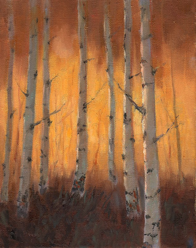 """Golden Autumn"" original fine art by Bonnie Bowne"