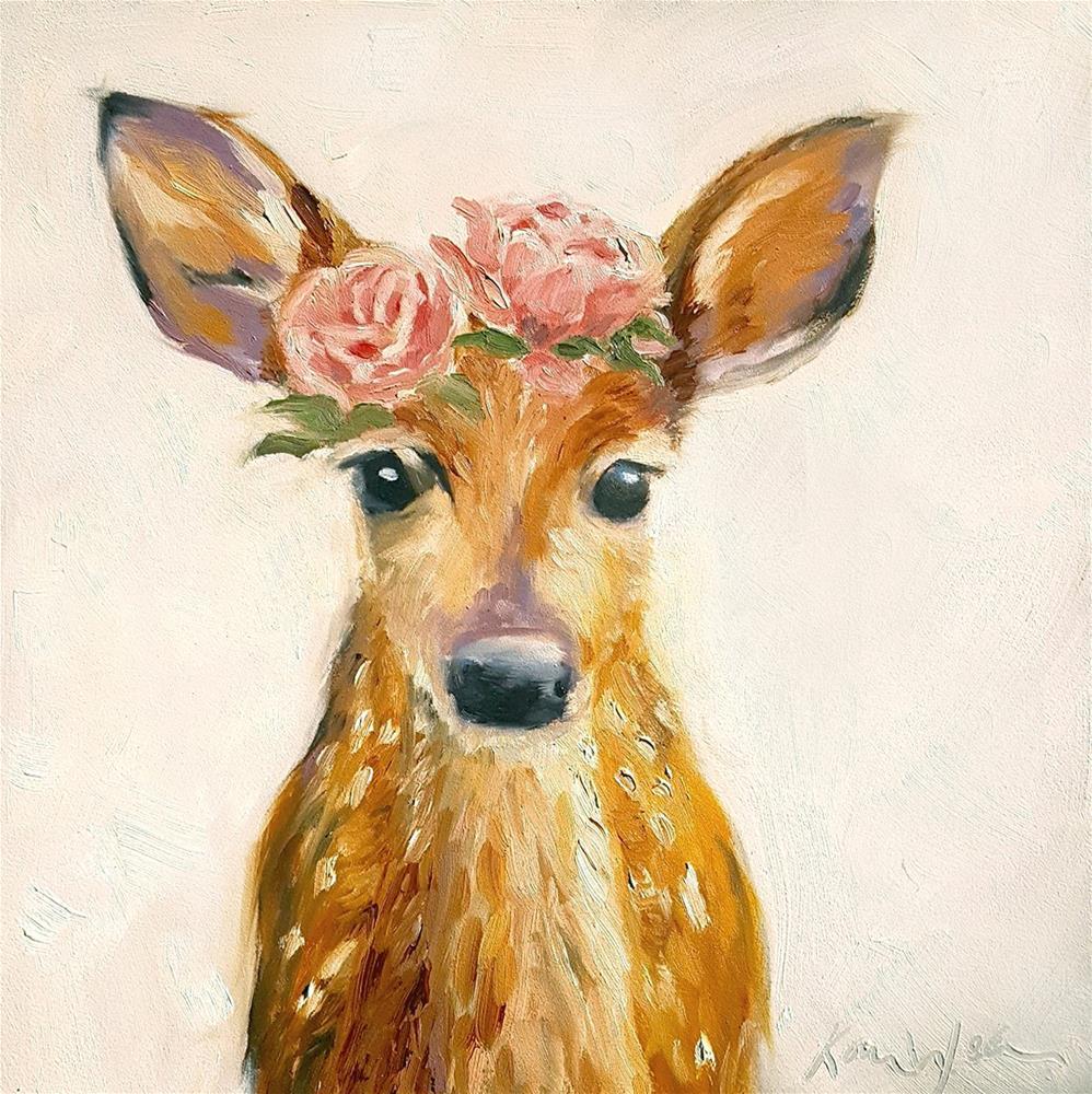 """""""Rosey Fawn"""" original fine art by Karen Weber"""