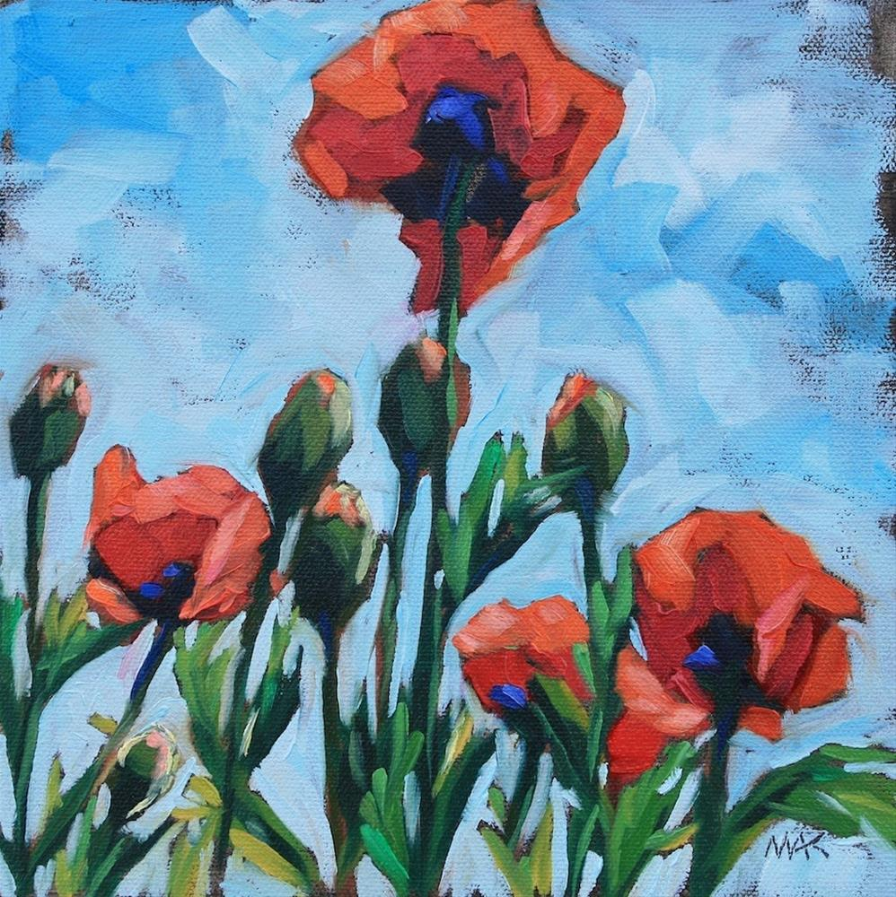 """""""Summer Poppies"""" original fine art by Mary Anne Cary"""