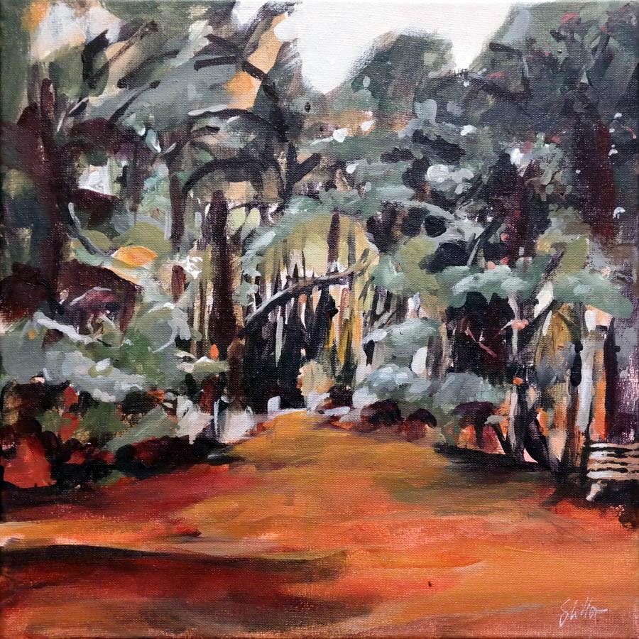 """1869 Wilhelm Busch Meadow"" original fine art by Dietmar Stiller"