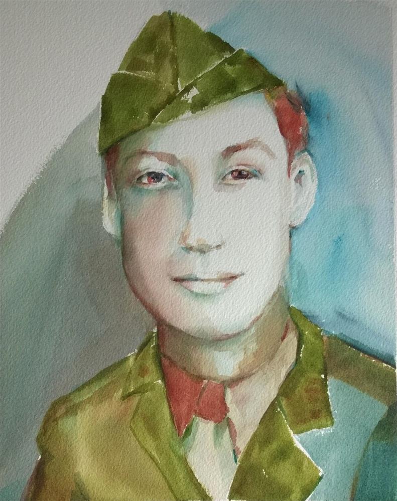 """Captain Ralph Davis"" original fine art by Crisynda Buss"
