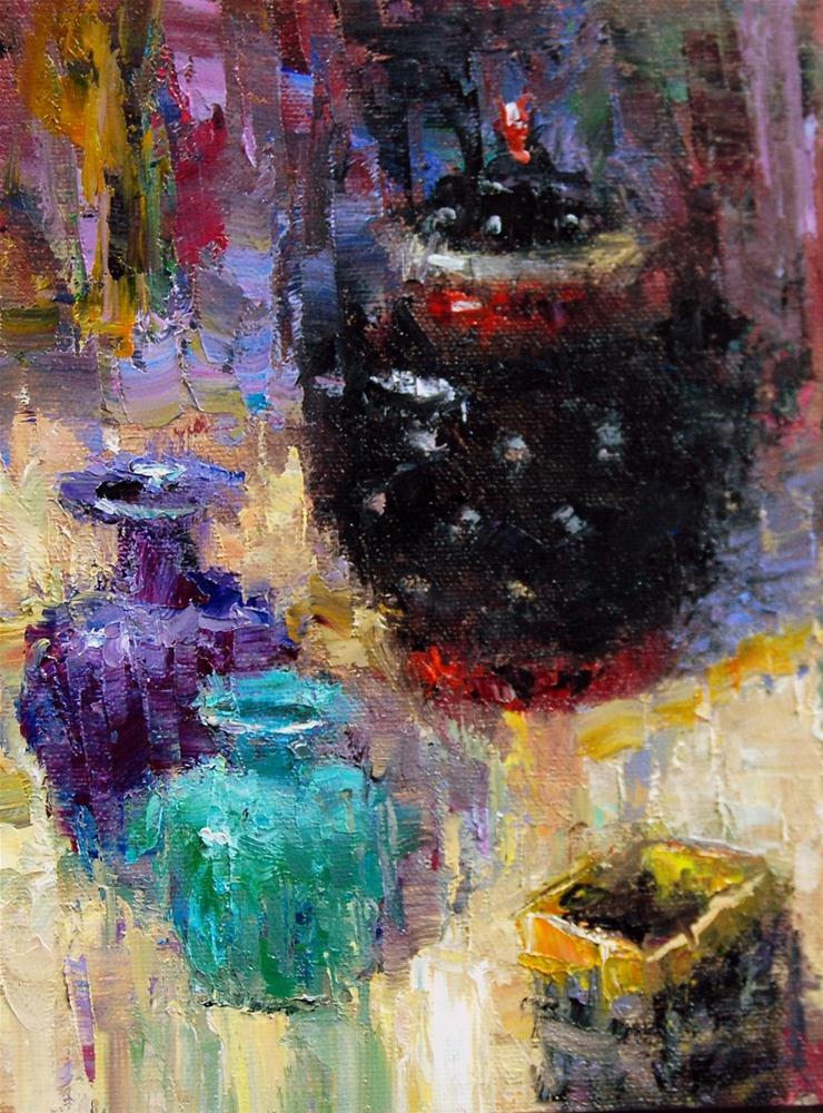 """""""Fracturing the Vessels"""" original fine art by Julie Ford Oliver"""