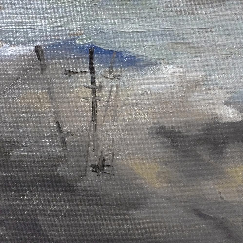 """""""Rainy Day"""" original fine art by Yuehua He"""