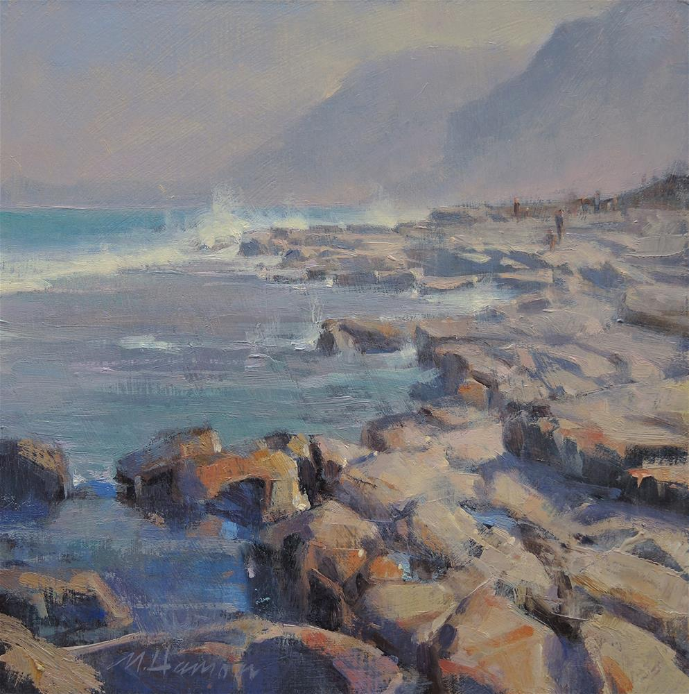 """Scarborough Beach Rocks"" original fine art by Marc Hanson"