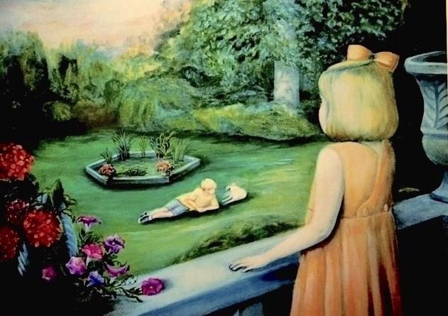 """My Big Brother"" original fine art by Barbara Whitmire"