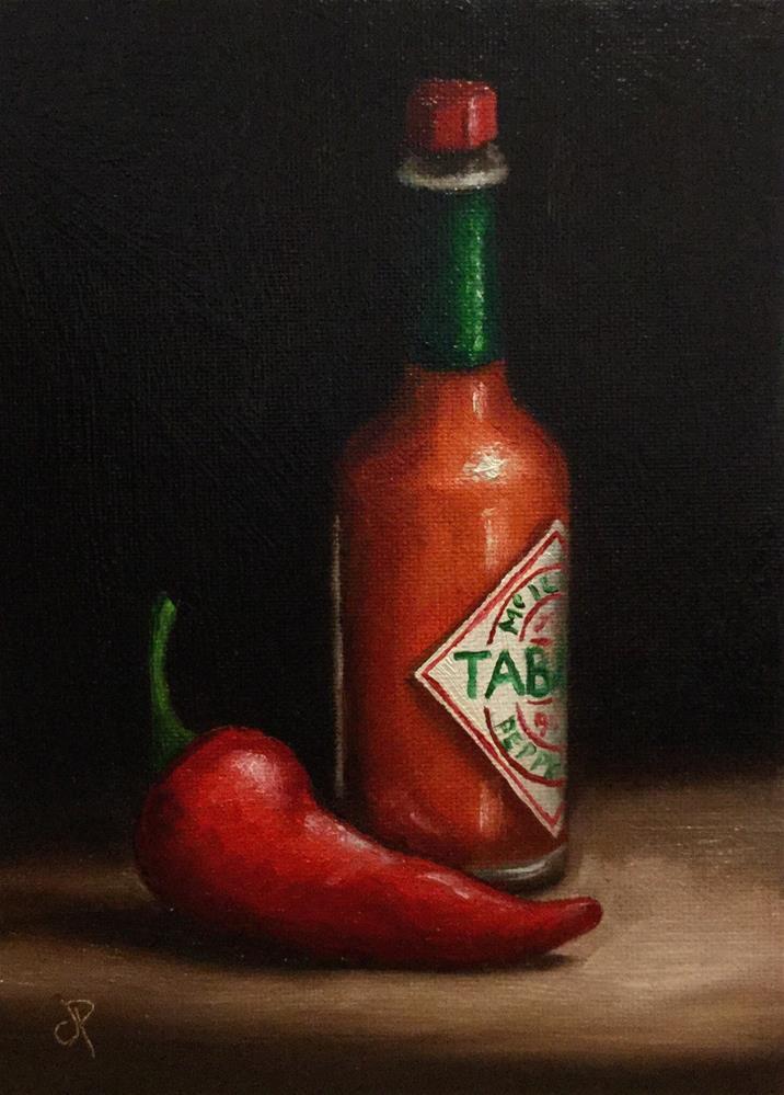 """Tabasco with pepper"" original fine art by Jane Palmer"