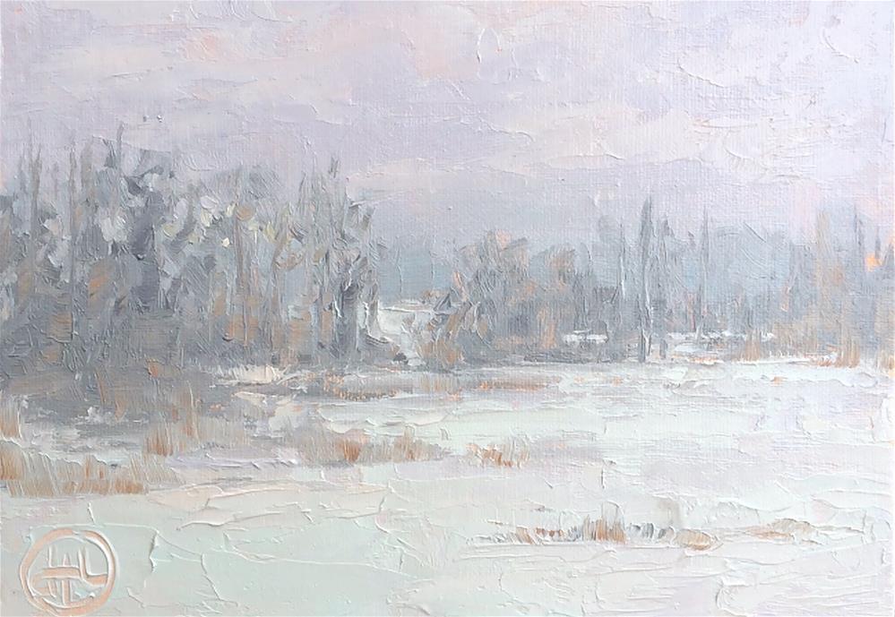 """soft surroundings"" original fine art by Dottie  T  Leatherwood"