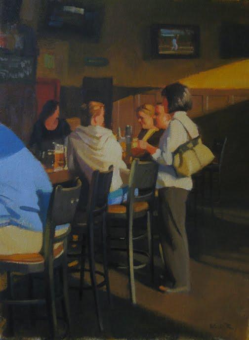 """Hangin' at Rick's"" original fine art by Kathy Weber"