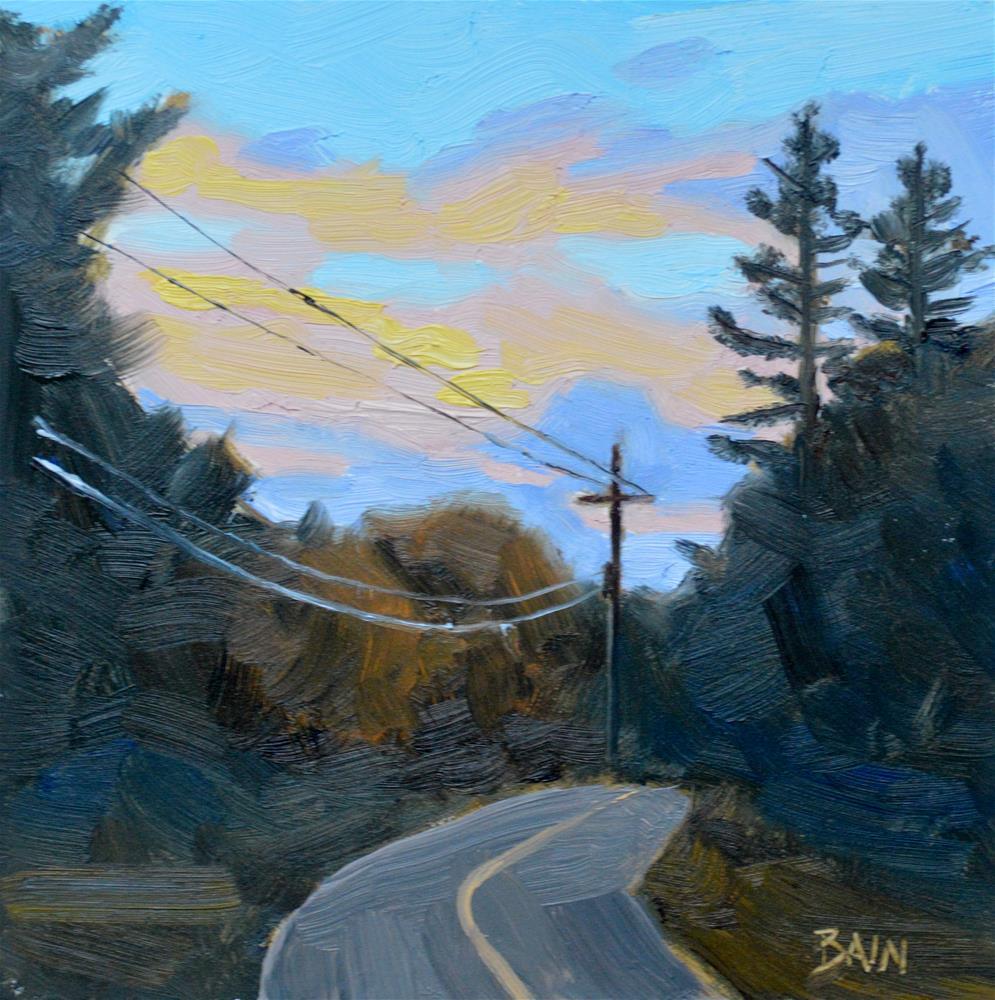 """""""Sunset Bend"""" original fine art by Peter Bain"""