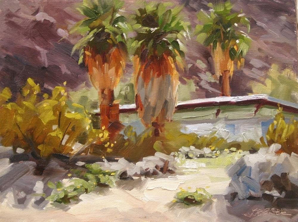 """""""Palm Trio"""" original fine art by Karen Werner"""