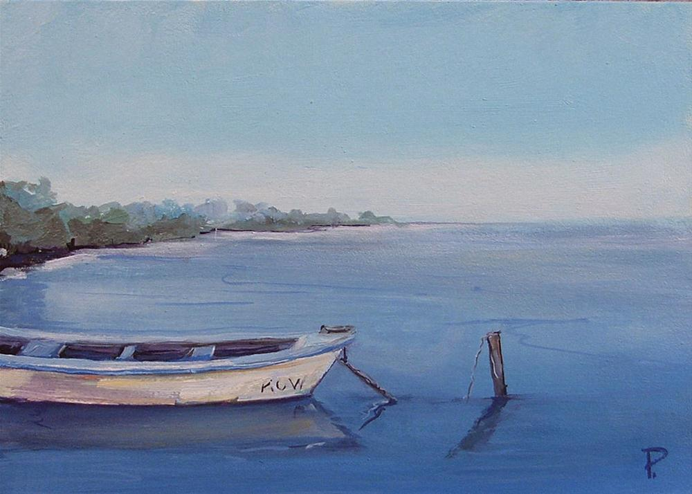 """""""Old Fishing Boat"""" original fine art by Dianna Poindexter"""