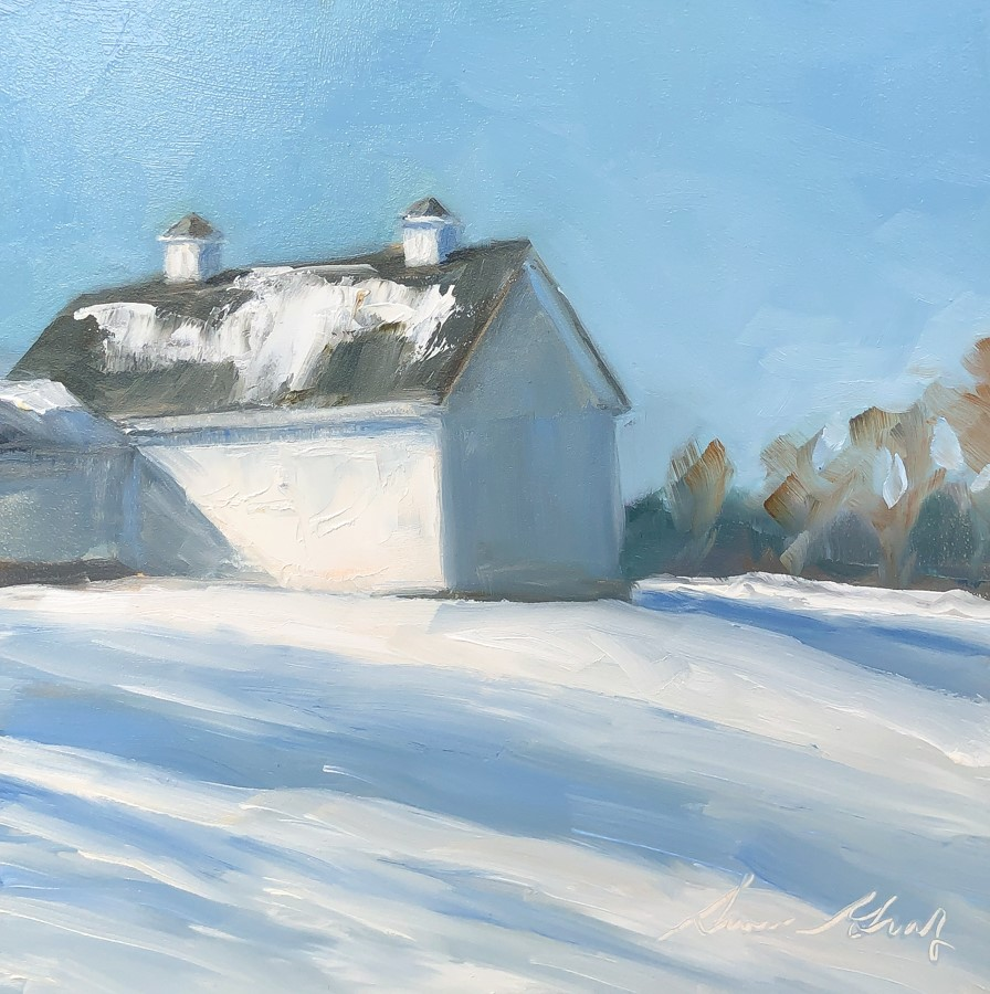 """#262 - Hilltop Farm #2 - New Gloucester, ME"" original fine art by Sara Gray"
