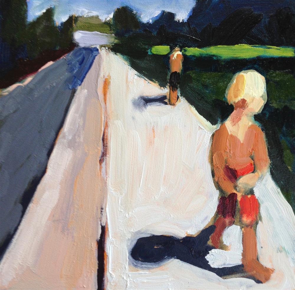 """Cruisin' Down the Sidewalk"" original fine art by Pamela Hoffmeister"