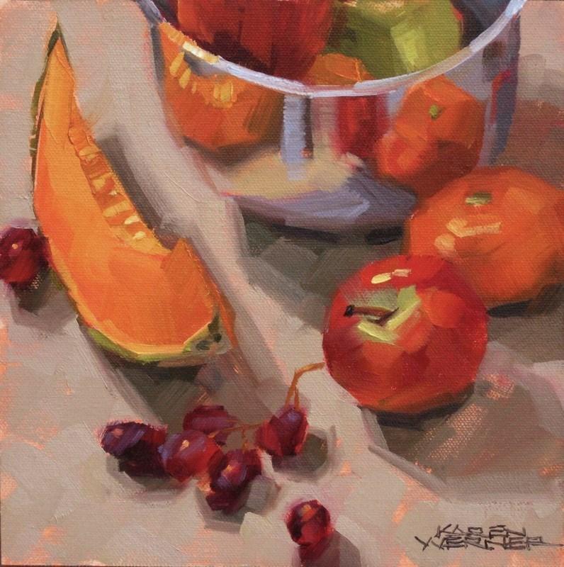 """""""Shiny Fruit Fest"""" original fine art by Karen Werner"""