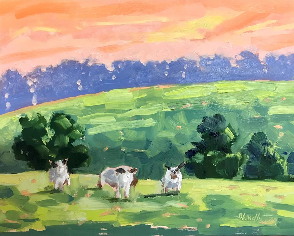 """Wales Sheep"" original fine art by Linda Blondheim"