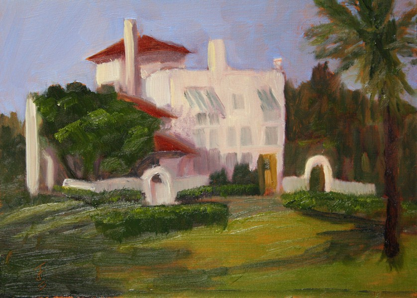 """The Villa"" original fine art by Jane Frederick"