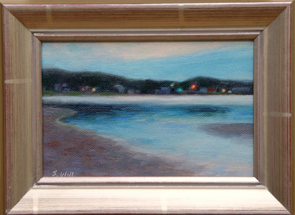 """Grand Marais at Dusk 4x6"" original fine art by Sharon Will"