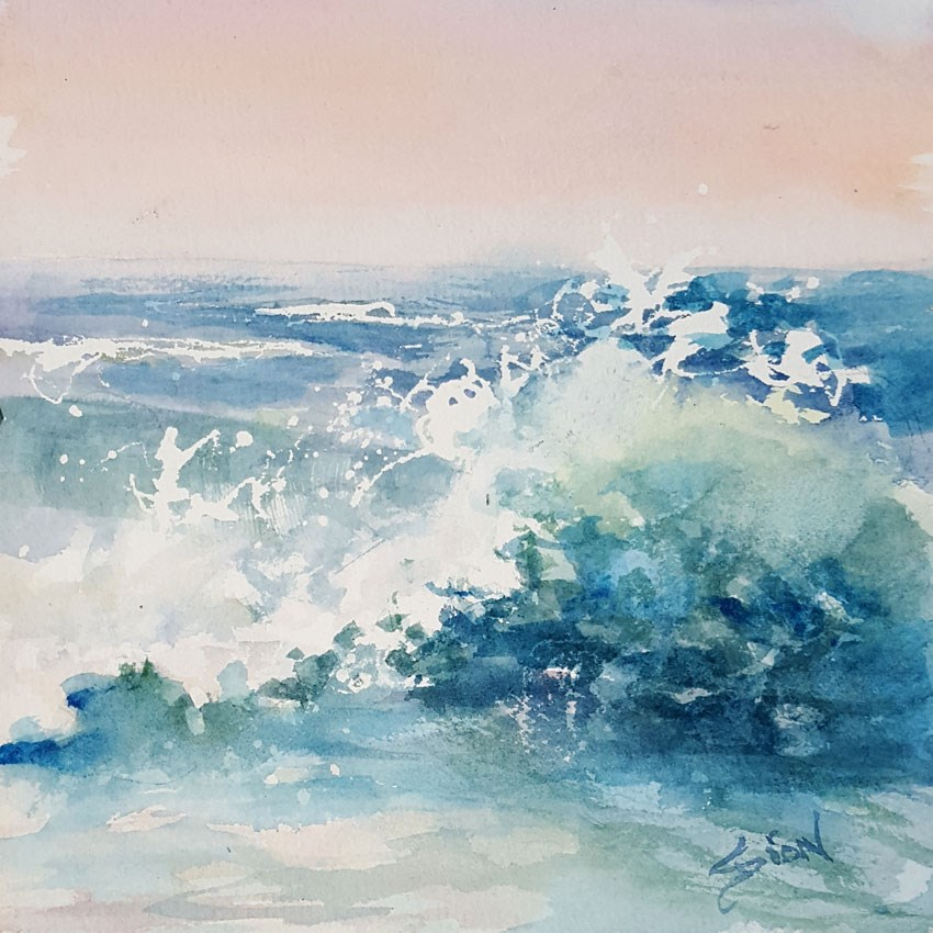 """Frisky"" original fine art by Sue Dion"