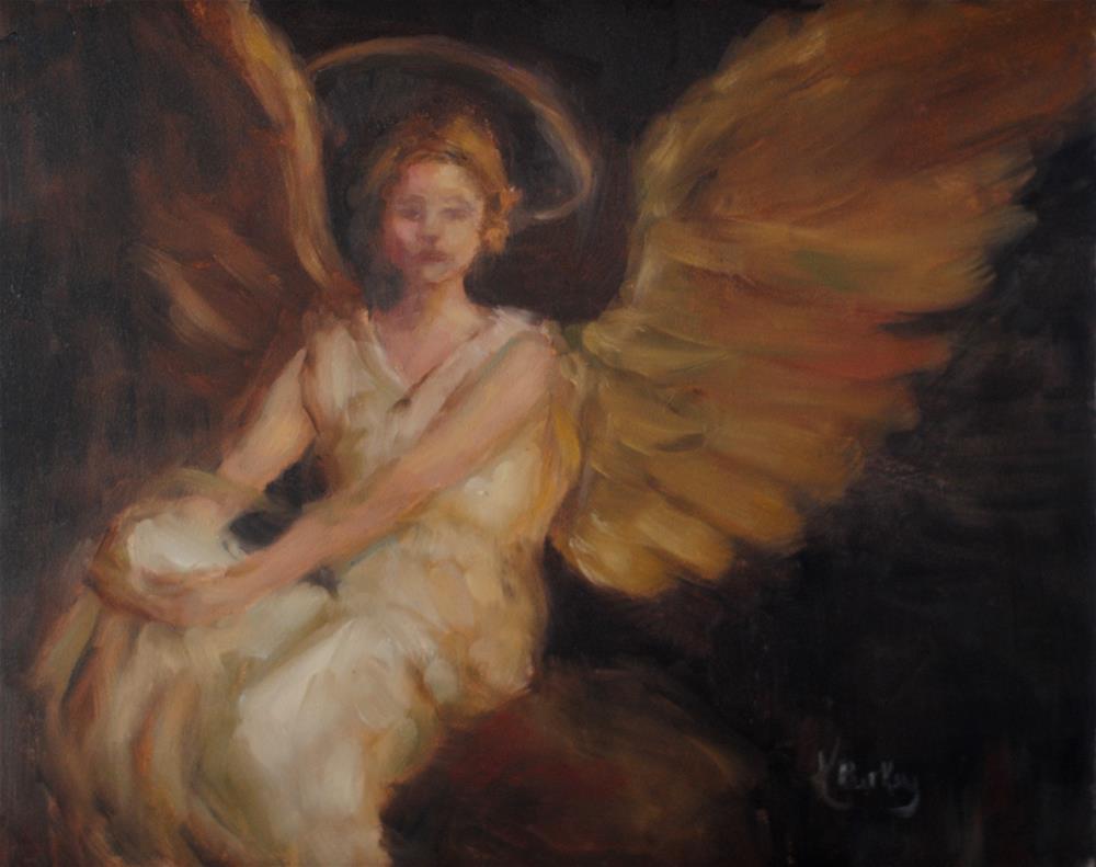 """Thayer's Angel"" original fine art by Kelly Berkey"