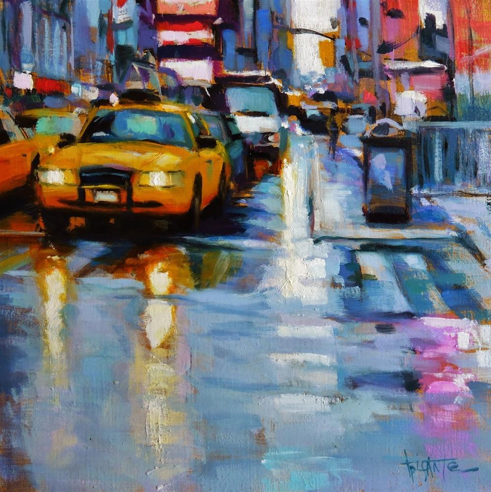"""Times square"" original fine art by Víctor Tristante"