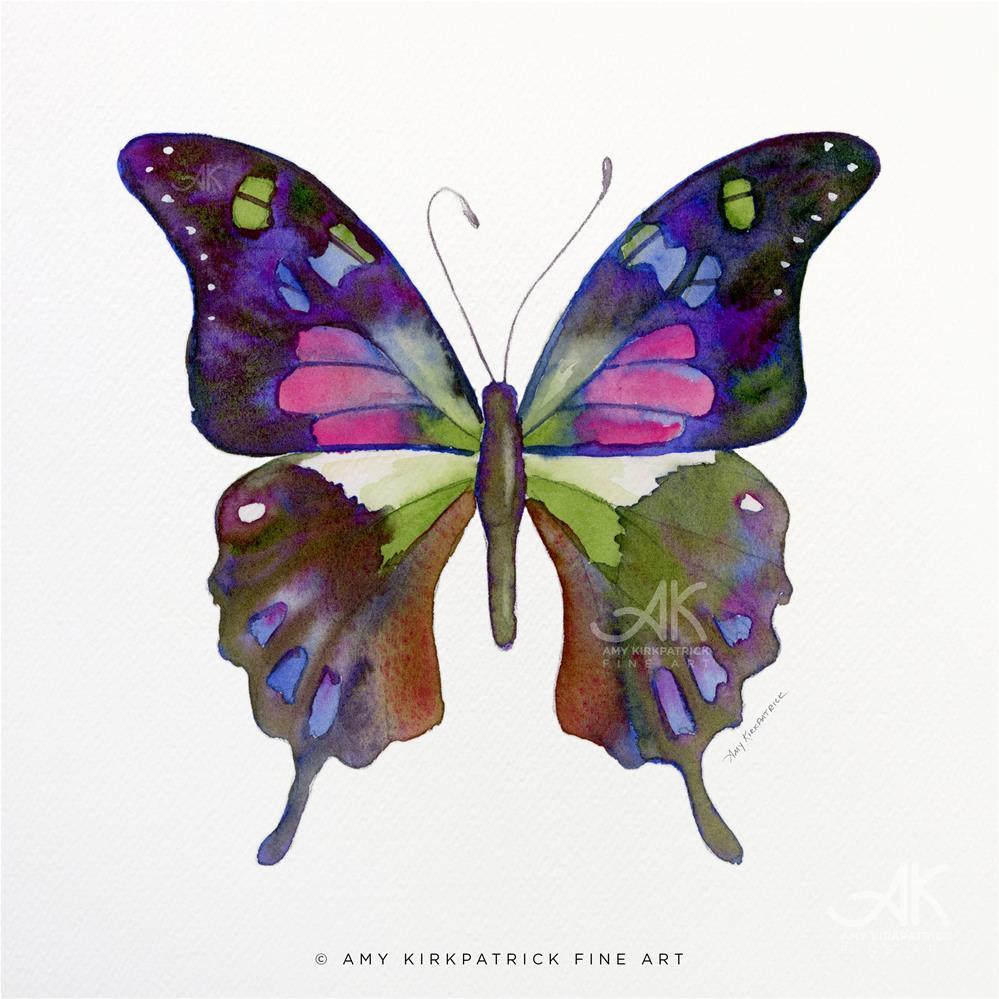 """#98 Graphium Weiskei Butterfly #0408"" original fine art by Amy Kirkpatrick"