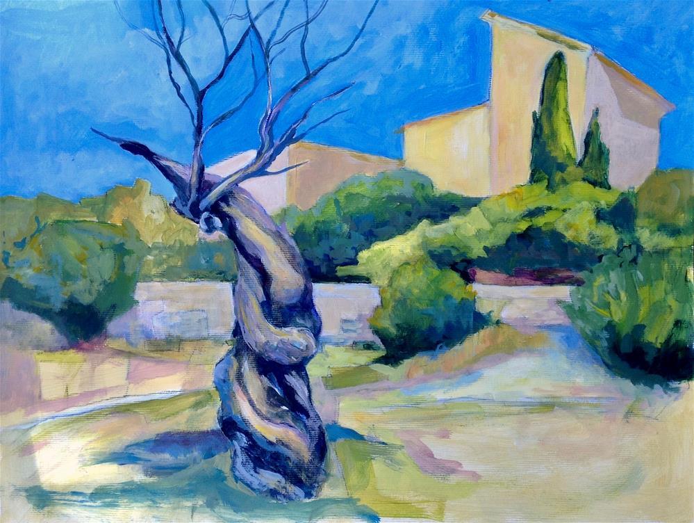 """VIens Amandier (almond tree)"" original fine art by Patricia MacDonald"