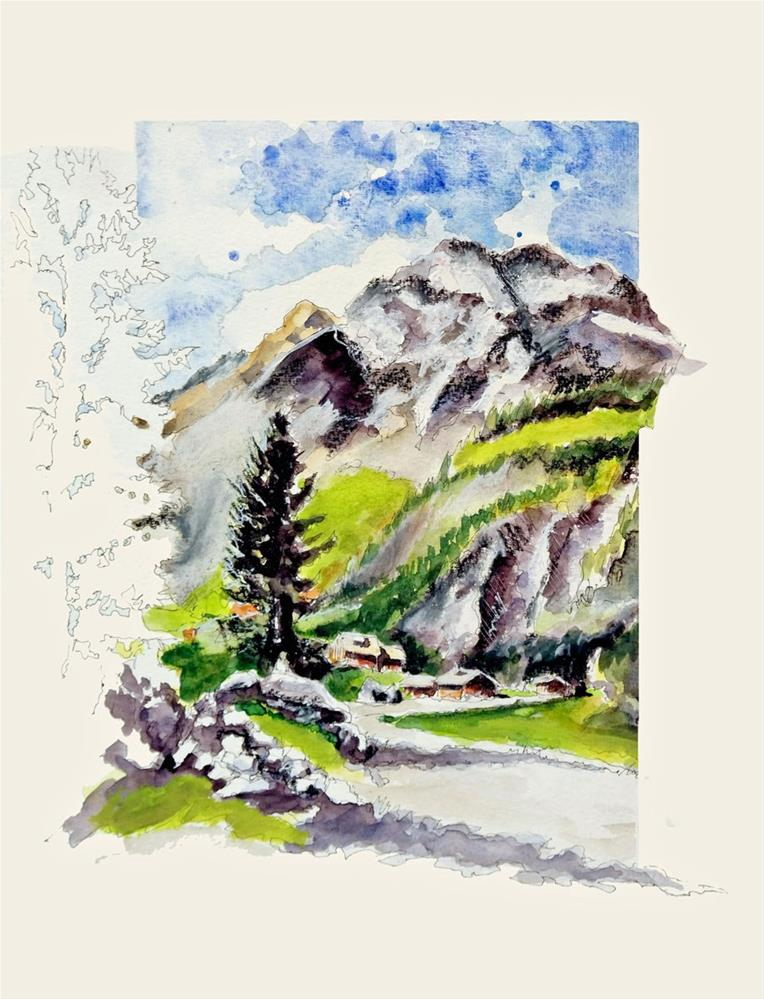"""1795 Tyrol Mountains"" original fine art by Dietmar Stiller"