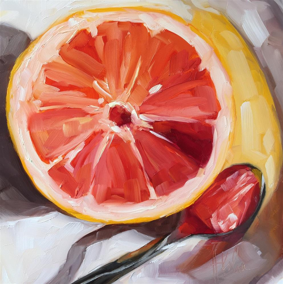 """Grapefruit Glow"" original fine art by Hallie Kohn"