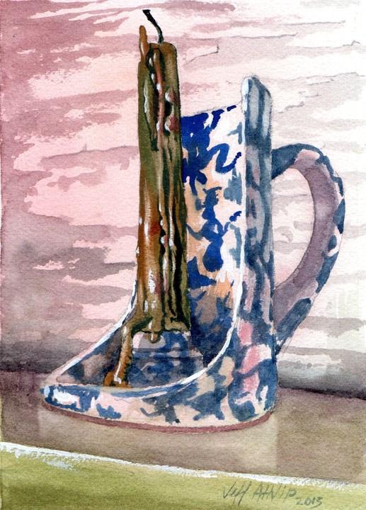"""Candle Holder"" original fine art by Jeff Atnip"