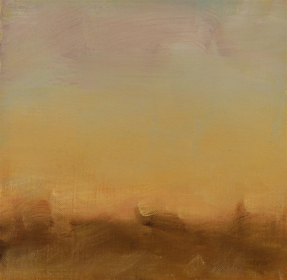 """Winter Sunset 06"" original fine art by Scott Serafica"