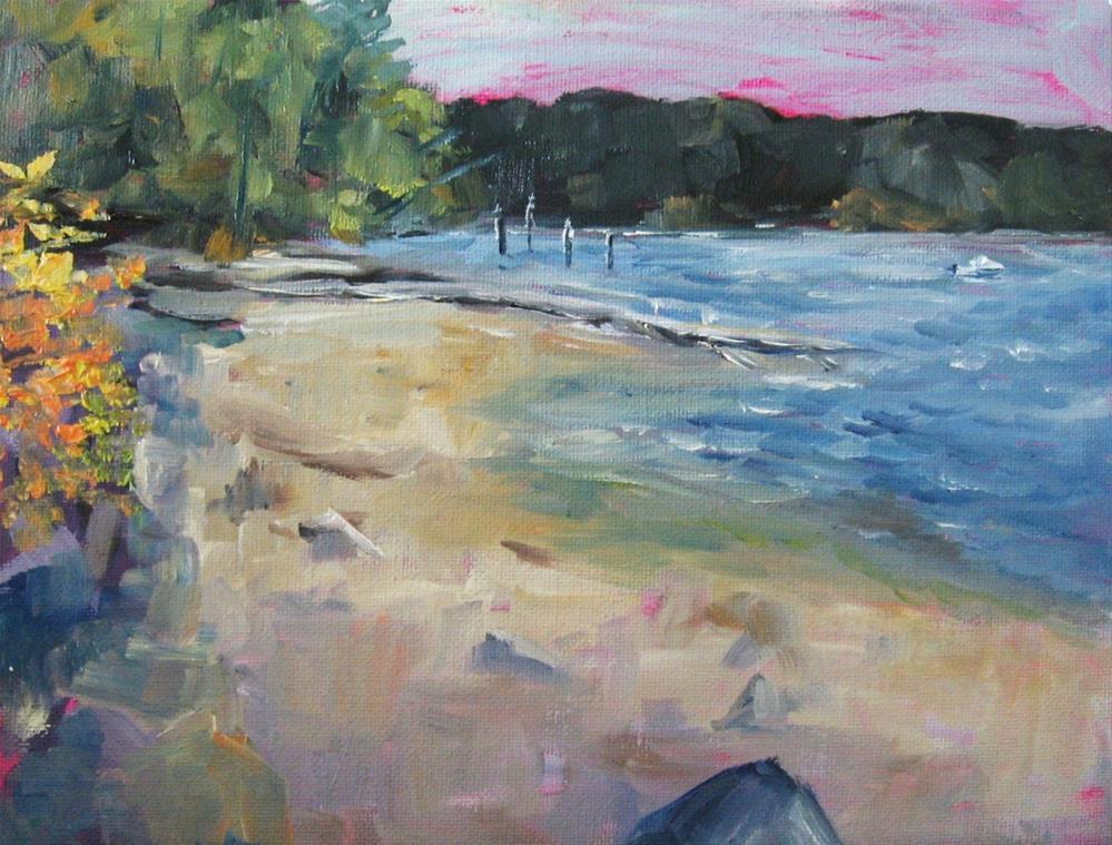 """""""8 x 10 inch oil Plein aire Mill Bay #1"""" original fine art by Linda Yurgensen"""