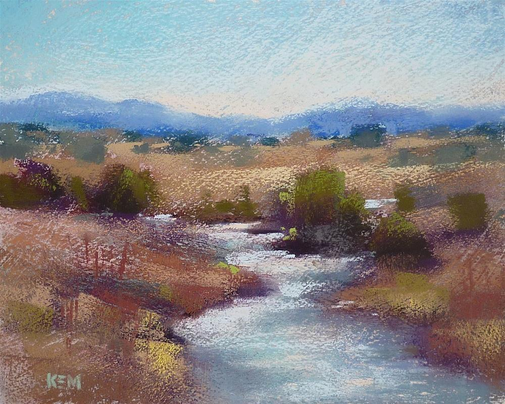 """Pastel Demo Monday: New Mexico Landscape"" original fine art by Karen Margulis"