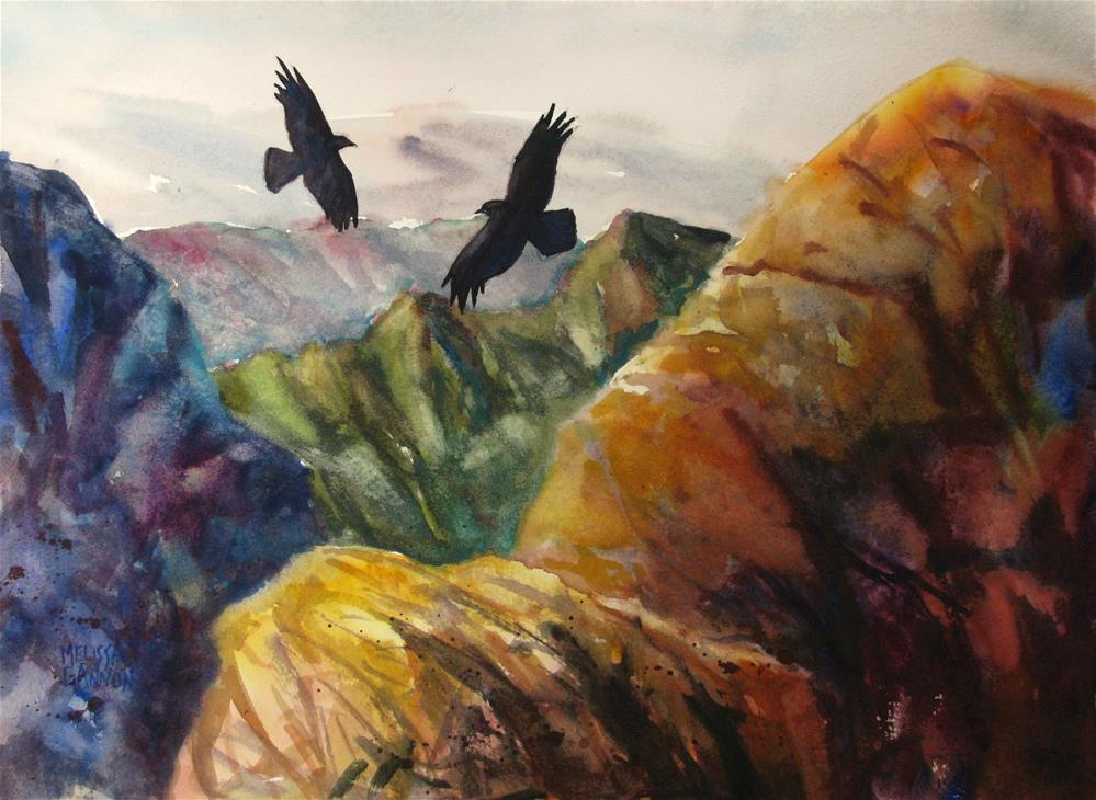 """Mountains and Sky"" original fine art by Melissa Gannon"