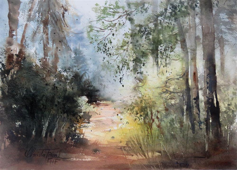 """""""in the woods"""" original fine art by Christa Friedl"""