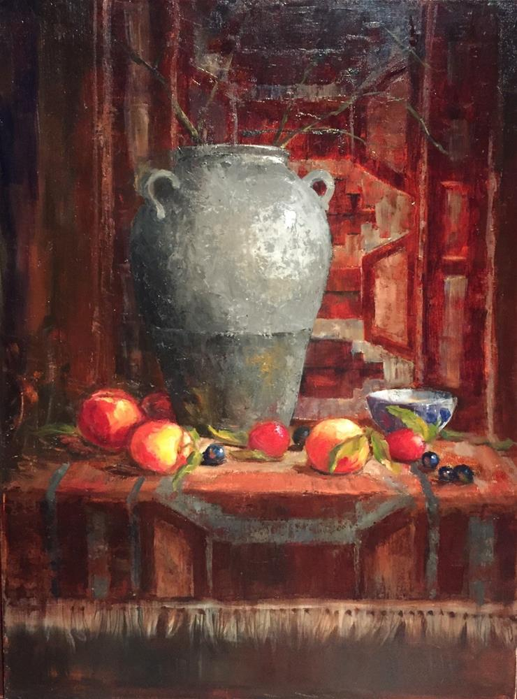 """Jug with Rug"" original fine art by Barbara Fluty"