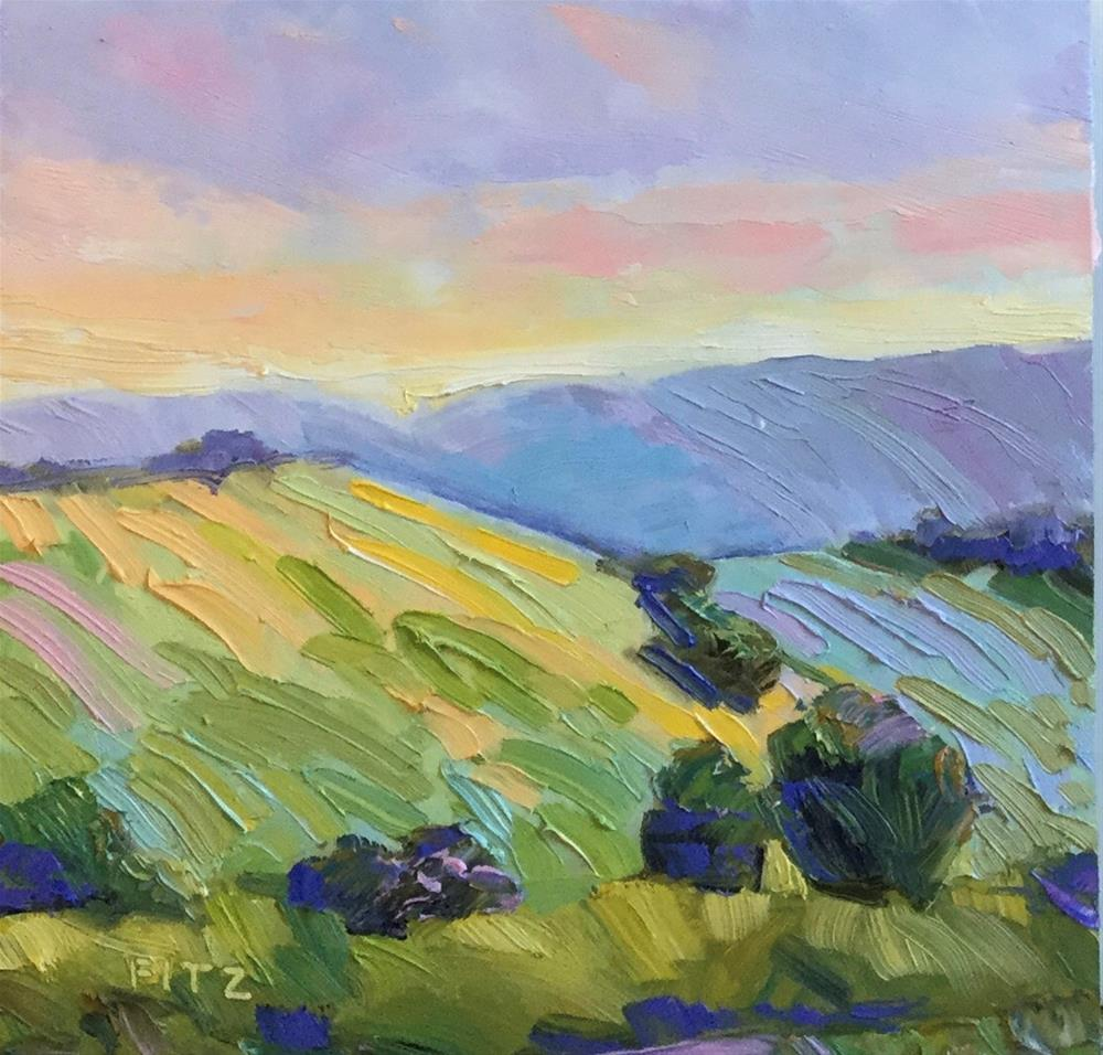 """Impasto Landscape Study 9"" original fine art by Charlotte Fitzgerald"