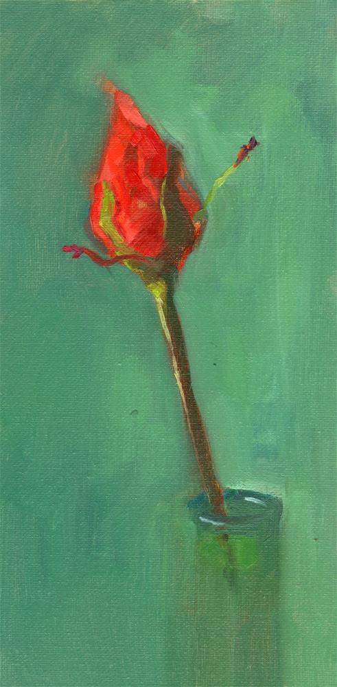 """William's Rose"" original fine art by Marlene Lee"