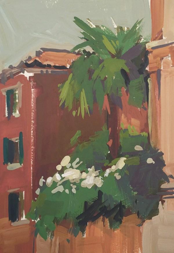 """Venice Palm Tree"" original fine art by Patti McNutt"