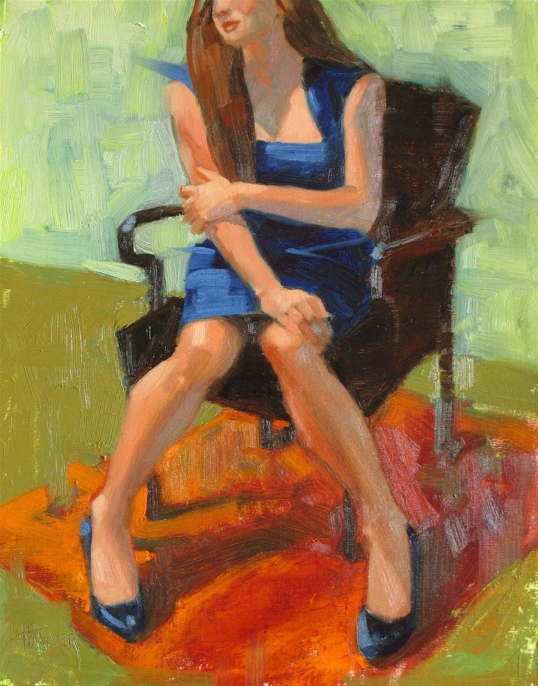 """""""Blue Shoes  14in x 11 in   Oil on linen"""" original fine art by Claudia Hammer"""