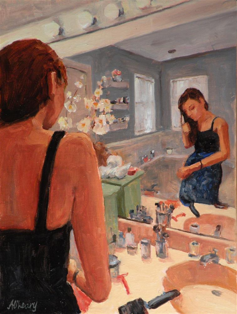 """Grandmas Bathroom"" original fine art by Alice O'Leary"