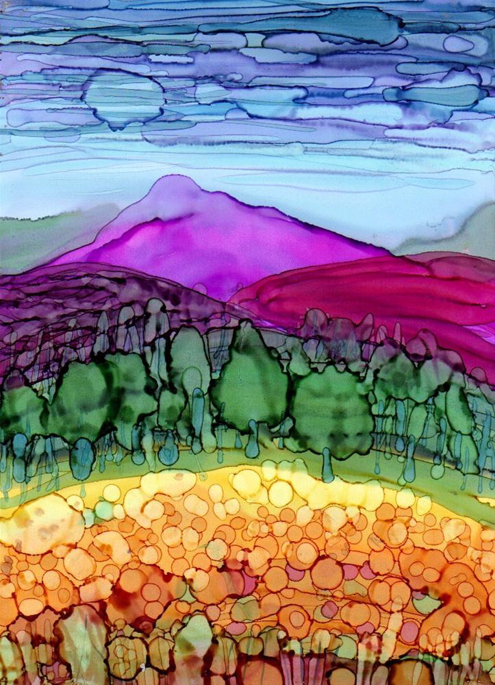 """Landscape 4"" original fine art by Kristen Dukat"