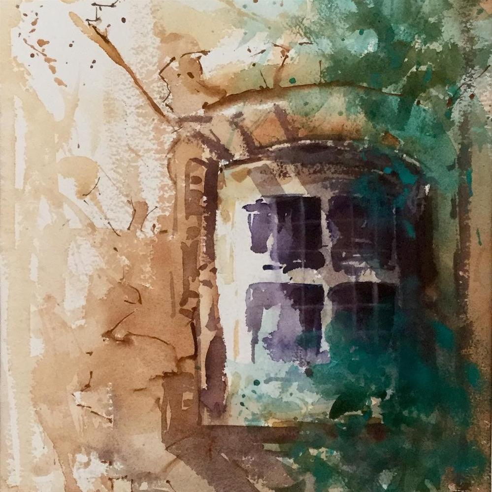 """Old Window"" original fine art by Christa Friedl"