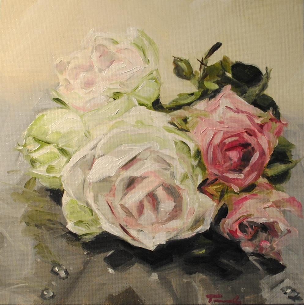 """Roses and Amaryllis"" original fine art by Tamanda Elia"