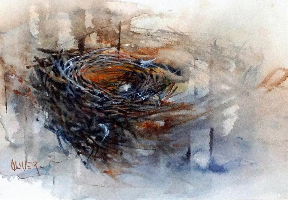 """Avian Architecture - watercolor"" original fine art by Julie Ford Oliver"